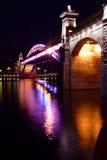 Moskau, Andreyevsky Brücke Stockfotos