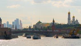Moskau: Ansicht der Stadt vom Fluss Stockbild