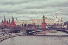 moskau Ansicht des Kremlin Lizenzfreies Stockbild