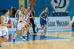 Dynamoverteidiger Ilona Korstin (Nr. 10) Stockfoto