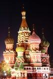 Moskau auf dem roten Bereich Stockfotos