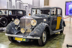 MOSKAU - AUGUST 2016: Rolls-Royce Phantom III 1937 stellte sich bei MIAS Moscow International Automobile Salon am 20. August 2016 Stockbilder