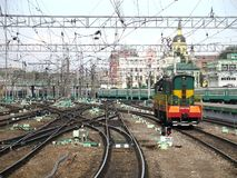 Moskau-Bahnhof. lizenzfreie stockfotografie