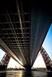 Moskau-Brücke im Winter Lizenzfreies Stockfoto