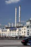 Moskau. Das Kraftwerk im Stadtzentrum Stockfotografie