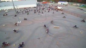 Moskau, das Radfahrerluftbrummen erfasst stock footage