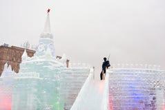 Moskau der Kreml gemacht vom Eis Lizenzfreies Stockbild