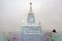 Moskau der Kreml gemacht vom Eis Lizenzfreie Stockfotografie