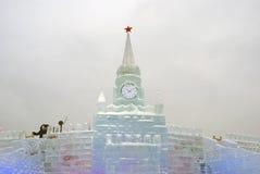 Moskau der Kreml gemacht vom Eis Lizenzfreies Stockfoto