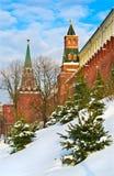 Moskau der Kreml im Winter Stockfotografie