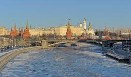 Moskau der Kreml im Winter lizenzfreie stockfotografie