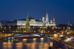Moskau, der Kreml nachts Lizenzfreies Stockfoto