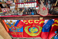 Moskau - 22 04 2017: Der Markt bei Izmailovsky der Kreml, Moskau Stockfotografie