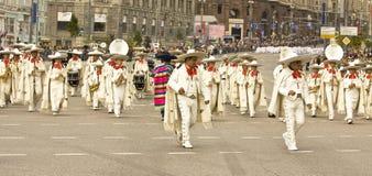 Moskau, Festival Stockbild