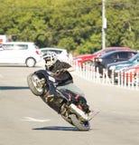 Moskau, Festival des extremen motosport Stockfotos