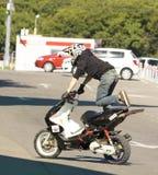 Moskau, Festival des extremen motosport Stockfotografie