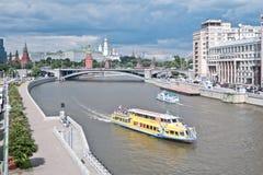 moskau Fluss Moskva Stockfotos