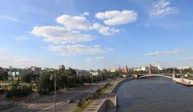 Moskau-Fluss (Russland) Stockbilder
