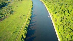 Moskau-Fluss und Fili-Parkdamm stock footage