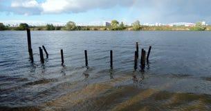 Moskau-Flussregenbogen Stockfotografie