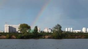 Moskau-Flussregenbogen Lizenzfreie Stockfotos