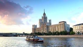Moskau-Flusstransport stock video
