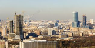 Moskau-Geschäftszentrum Stockbild