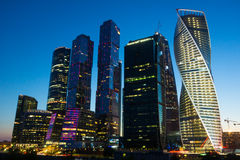 Moskau-Geschäftszentrum-Moskau-Stadt Lizenzfreie Stockfotos