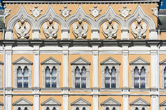 moskau Großartiger Kremlin-Palast fassade Paradewohnsitz von presid Lizenzfreie Stockfotografie