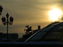 Moskau-Himmel Stockbild
