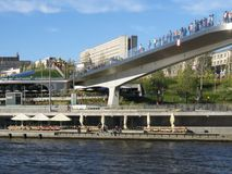 Moskau! Ich liebe dich! Der Zaryadye-Park stockbild