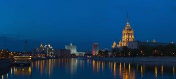 Moskau im Stadtzentrum gelegen am Abend Stockfoto