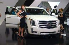 MOSKAU - 29 08 2014 - Internationaler Automobil-Salon Automobil-Ausstellungs-Moskaus Stockbild