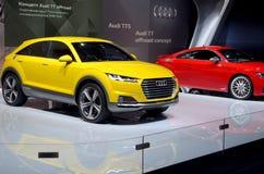 MOSKAU - 29 08 2014 - Internationaler Automobil-Salon Automobil-Ausstellungs-Moskaus Stockfotografie