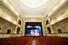 Leere Halle im Theater im Palast auf Yauza Lizenzfreies Stockfoto