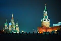 Moskau, Kathedrale des Heilig-Basilikums Stockfotos