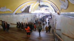 moskau Komsomolskaya-Metrostation stock video footage