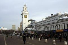 Moskau. Kontrollturm Kievskiy des Bahnhofs Stockfoto