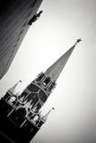 Moskau Kremlin Alter Turm und doppelter Adler - Staatssymbol von Russland Stockfoto
