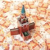 Moskau Kremlin auf dem Geld Stockbild
