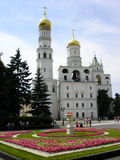Moskau kremlin church. Ivan the Great Bell-Tower complex in the Moscow Kremlin Russia Royalty Free Stock Photography