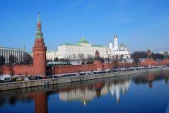 Moskau Kremlin Farbfoto Lizenzfreies Stockbild