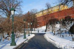 Moskau Kremlin Farbfoto Stockfotografie