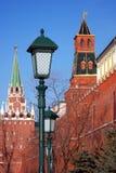Moskau Kremlin Farbfoto Lizenzfreie Stockfotos