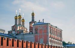 Moskau Kremlin Farbfoto Lizenzfreies Stockfoto