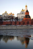 Moskau Kremlin Farbfoto Stockbild