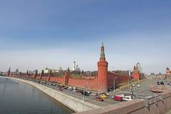 Moskau Kremlin und Fluss Stockfotografie