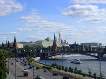 Moskau kremlin. View of Moscow Kremlin in sunny day. Russia Royalty Free Stock Image