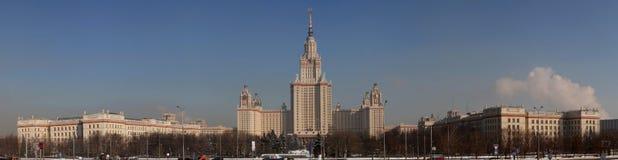 Moskau-Landesuniversität (Frontseite, Winter) Lizenzfreies Stockbild