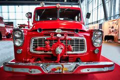 MOSKAU - 9. MÄRZ 2018: Internationale Erntemaschine B120 1960 an ex lizenzfreies stockfoto